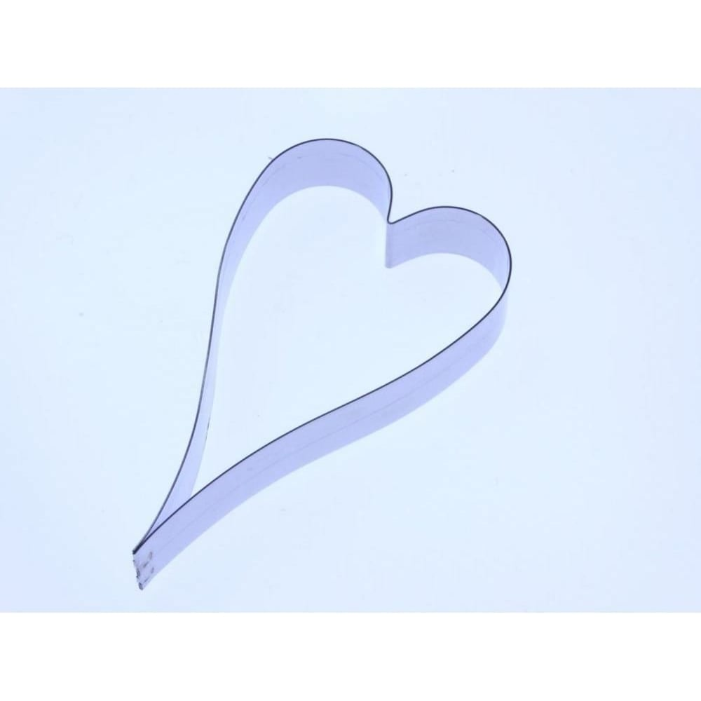 View the 65mm ELONGATED HEART stainless steel icing cutter online at Cake Stuff