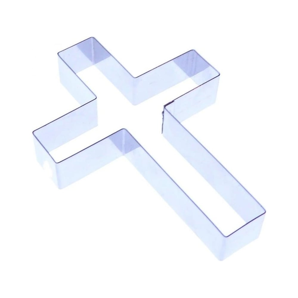 View the medium 60mm PLAIN CROSS stainless steel icing cutter online at Cake Stuff
