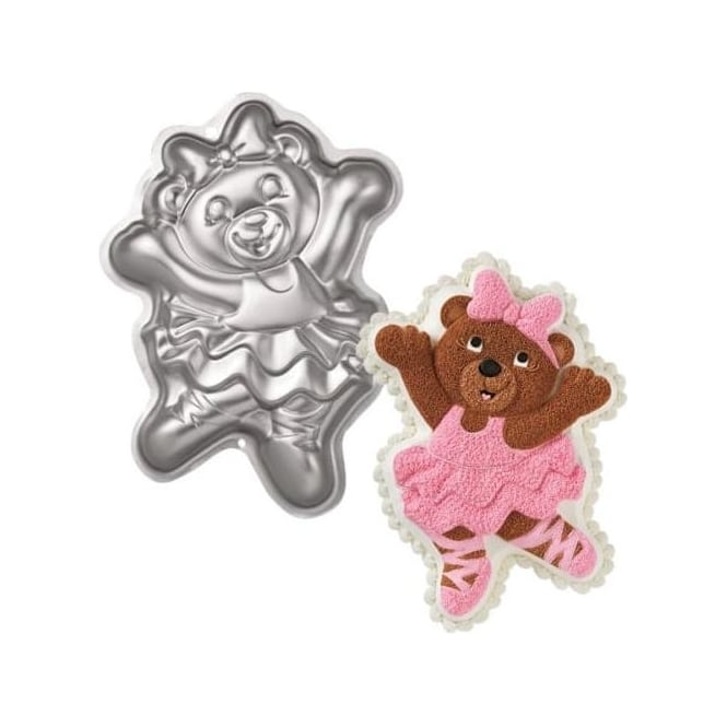 View the Ballerina Bear Cheerleader Teddy cake tin / pan online at Cake Stuff