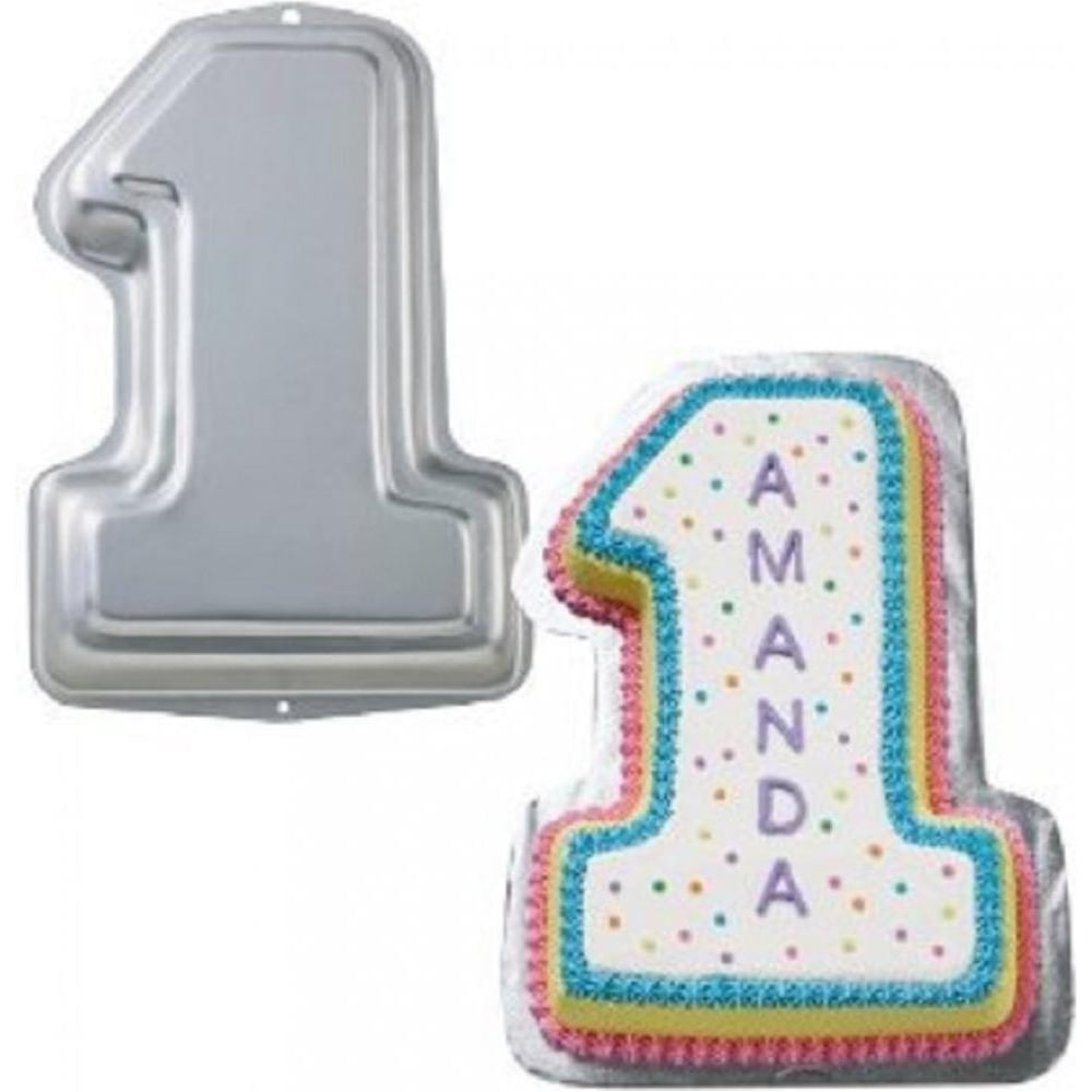 View the number 1 novelty cake tin pan online at Cake Stuff