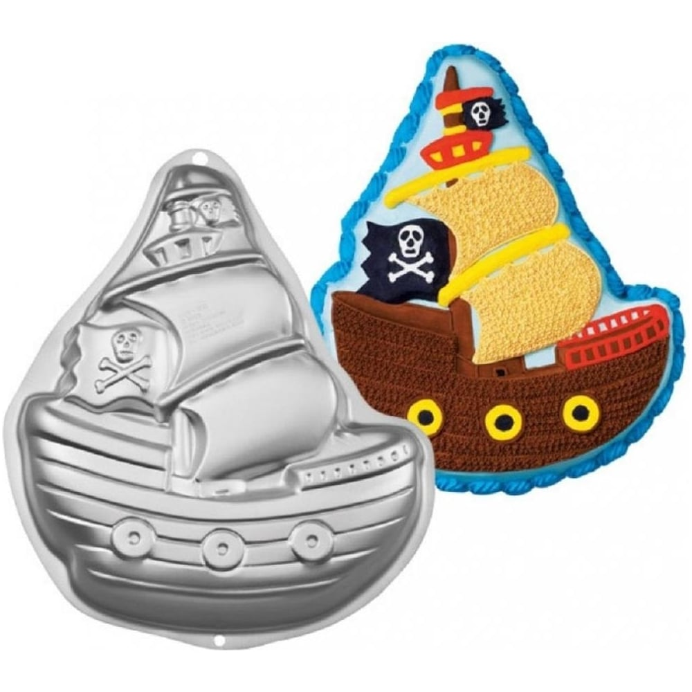 View the Pirate Ship Galleon cake tin / pan online at Cake Stuff