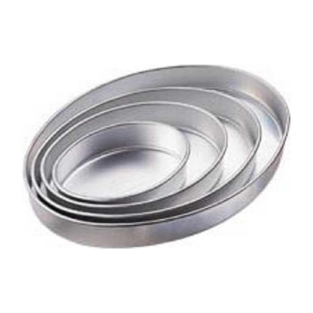 "View the set of 4: 7¾"" / 10¾"" / 13"" / 16½"" OVAL Performance cake tins online at Cake Stuff"