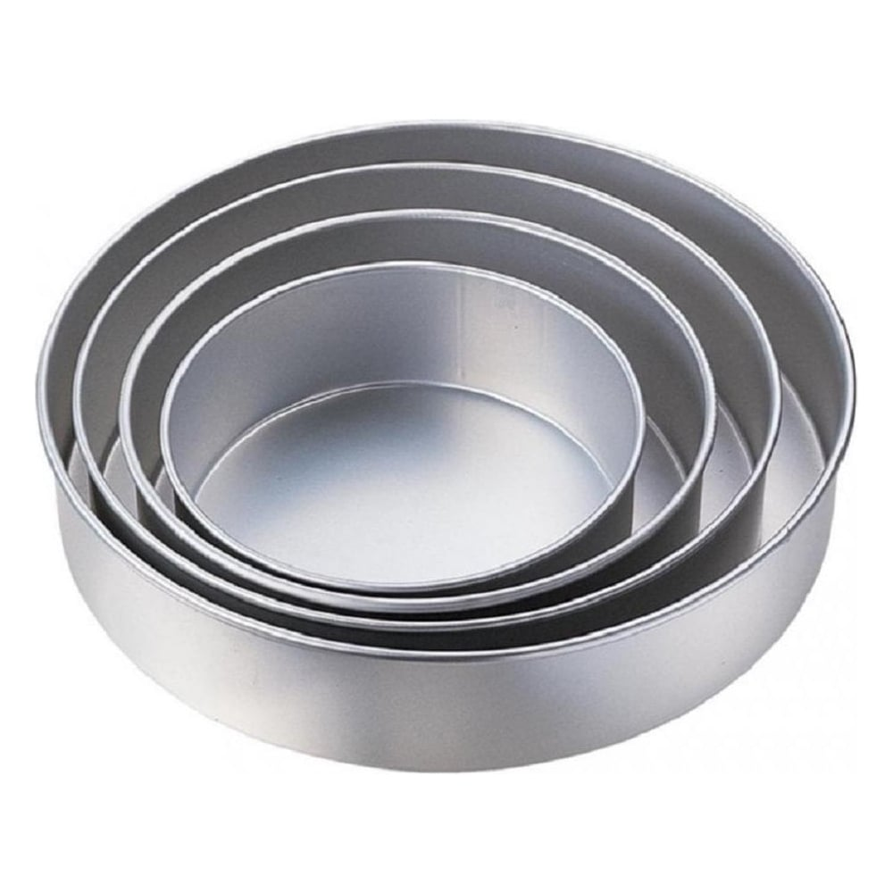 "View the set of 4: 8"" / 10"" / 12"" / 14"" - 3"" deep Performance round cake tins baking pans online at Cake Stuff"