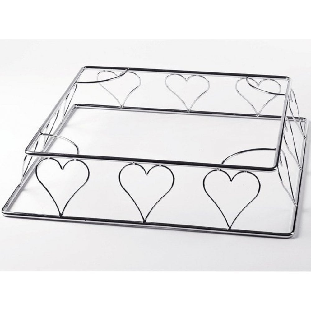 "View the *50% OFF RRP PROMO* SILVER SQUARE metal cake stand / base 16"" online at Cake Stuff"