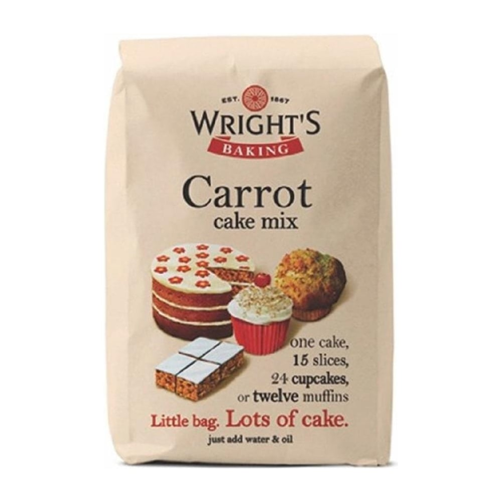 View the 500g Carrot Cake mix online at Cake Stuff